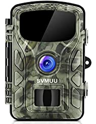 "SVMUU Wildkamera 14 MP 1080P Jagdkamera Beutekameras MEHRWEG 2.4"" LCD mit 940nm IR LED's Sensoren mit Bewegungsaktivierung"