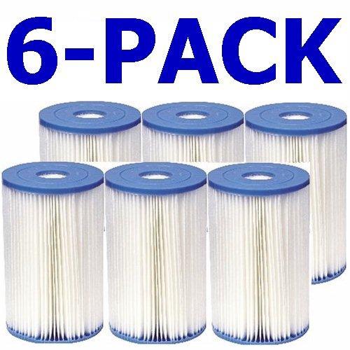 Intex 59905CS N/AA Filterkartuschen Typ B, Größe M, Weiß, 6 Stück -