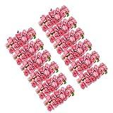 Gleader 144 pz Mini fiori carta rosa di nozze per bomboniera artigianale (rosa)