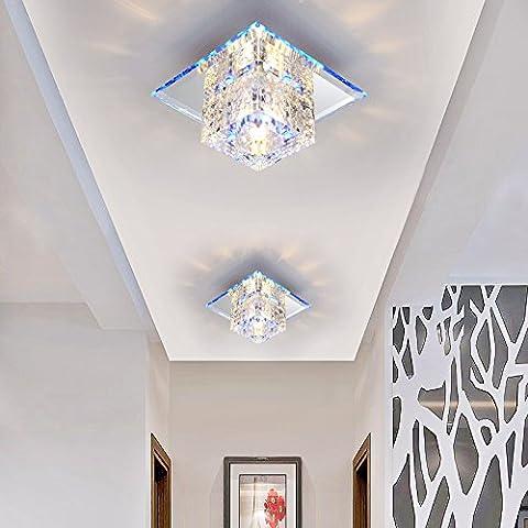 Portico lampada luce led luci di corridoio il corridoio porta Crystal occhio di gatto lampade a riflettore illuminazione stanza vivente lampada da