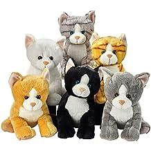 Lelly 25 cm Colores Surtidos Sentado Peluche de Gatos