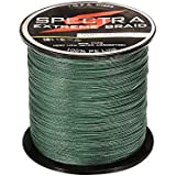 Adeeing Braided Fishing Line 20LB-80LB Test 4 Stands Super Strong PE Fishing Line Dark Green