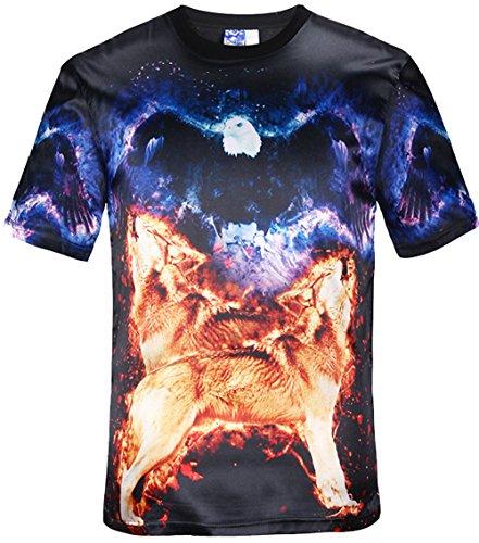 Yonbii Hot Summer T-Shirts 3D-Männer Silk dünnes reizvolles T-Shirt Top beiläufige T-Rundhalsausschnitt-Kleid Silk-5