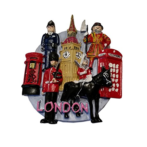 Sights of London Souvenir Magnet Kühlschrank Locker Polizist Royal Guard Post Box...