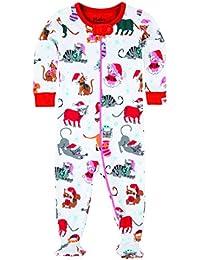 Hatley Footed Coverall-Holiday Cats, Polaina para Bebés