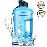 Water Jug, Water Bottle 2.2L, Tritan Bottle, Big Bottle 2,2L, WasserFlasche 2.2L, Große WaterFlasche, TrinkFlasche, BPA Frei, WaterKanister, SportFlasche von NAVIVVA SPLENDID