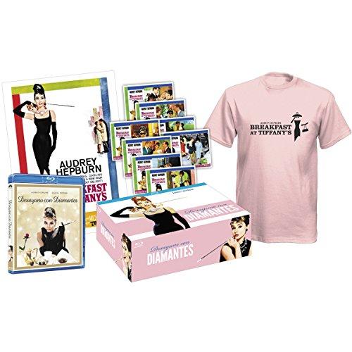 Preisvergleich Produktbild Breakfast at Tiffany's (Desayuno con diamantes) - Pack Collector (Blu-Ray + Tshirt + 8 Post cards + Poster) [Blu-ray] (European region B / 2)