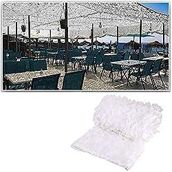 Blanc Filet De Camouflage Renforcé Camo Filet Extérieur Voile D Ombrage Intérieur Camouflage Soleil Ombre Filet Auvents for Patios Écran Solaire Maille Jardin 2x3m 3x4m 6m (Size : 5x8M16.4x26.2ft)