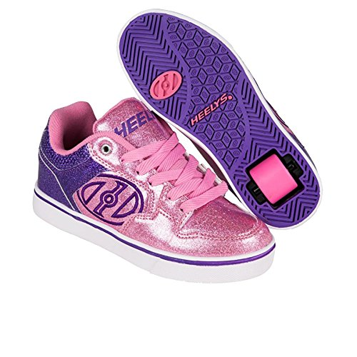 Heelys Motion Plus, Scarpe da Ginnastica Bambina Viola/rosa glitterato
