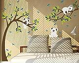 trasformare qualsiasi stanza in pochi minuti con luckkyy Koala Tree Peel & stick adesivo da parete megapack-Il modo più semplice, più veloce e più conveniente per decorare qualsiasi stanza o superficie piana. Fai la tua bambina o bambin...