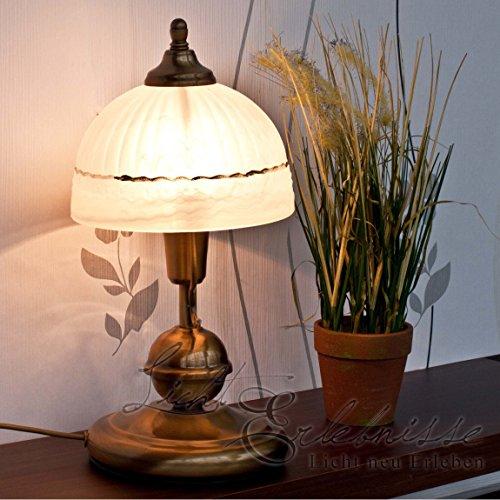 Basse consommation-classique-lampe de table à lED 3 w avec lampe jugenstil verre décoré