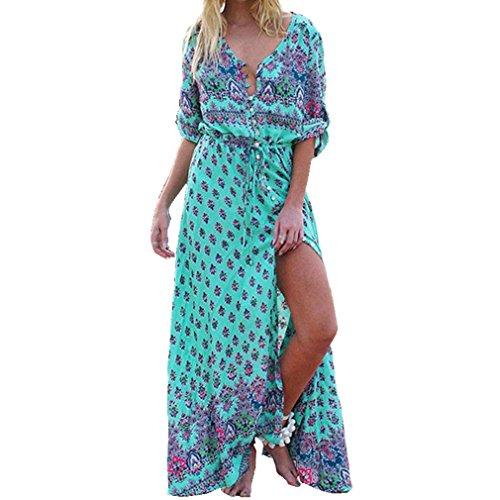 Amlaiworld Vestido Largo Mujer Boho Vestido de Noche Maxi Playa Sundre