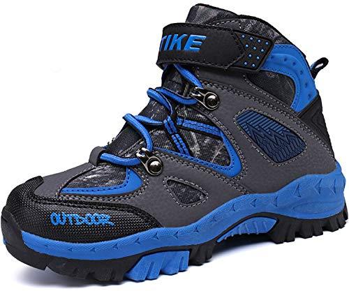 ASHION Hiking Boots Kids Trekking Climbing Outdoor Shoes Boys Trekking Waterproof Snowshoeing Hiking Footwear