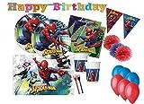 DECORATA PARTY Kit n 54f Coordinato Festa Compleanno Spiderman Uomo Ragno