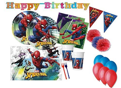 Accessoires de décoration de fête d'anniversaire Spiderman