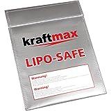 Original kraftmax LiPO Safe Guard Akku Schutztasche / Schutzbeutel für Li-Ion Lithium Akkus z.B. 18650