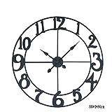 CZM ZHB wanduhr Kreative Einfache Eisen Wanduhr Wohnzimmer Wände stumm Uhren und Uhren Uhr (Farbe : #2)