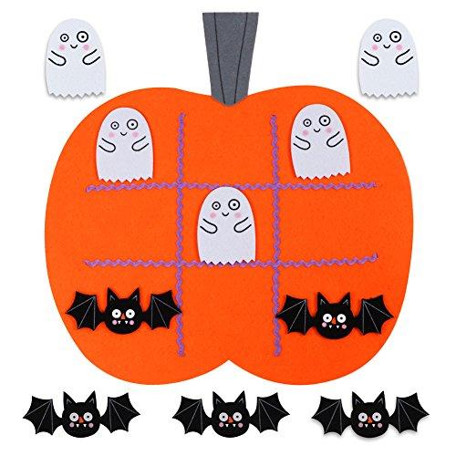 OurWarm Felt Tic Tac Toe Reise Spiele für Kinder Pädagogische Spielzeug Halloween Spiele Ideen Kürbis Dekorationen