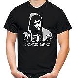 Donnie Darko Männer und Herren T-Shirt | Mask Kostüm Geschenk | M4 (L, Schwarz)