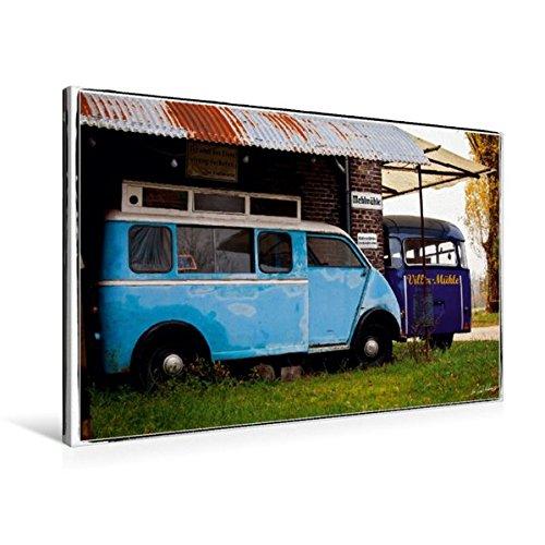 til-Leinwand 90 cm x 60 cm quer, Two Blues | Wandbild, Bild auf Keilrahmen, Fertigbild auf echter Leinwand, Leinwanddruck Mobilitaet Mobilitaet ()