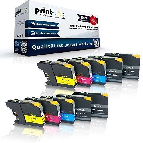 Preisvergleich Produktbild 10x kompatible Tintenpatronen für Brother LC-223 LC-225 LC-227 - Sparpack - Eco Plus Serie - 4x Black 2x Cyan 2x Magenta 2x Yellow