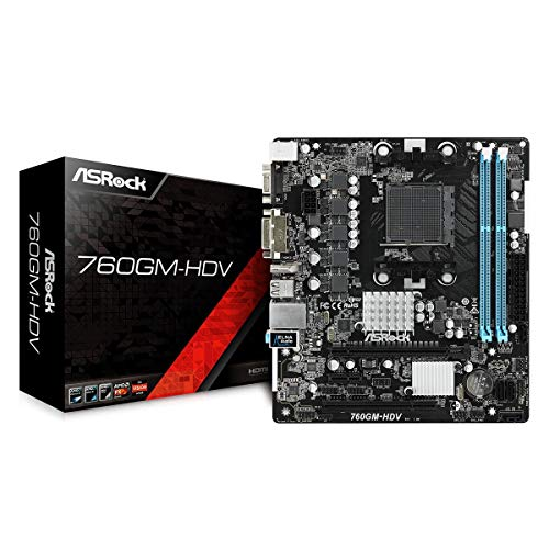 MB ASRock 760GM-HDV Am3+M-ATX D-Sub/DVI/HDMI DDR3 Retail