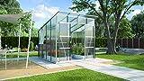 Freya 7600 Alu-Gewächshaus HKP 6 mm Treibhaus 7,6 m² Gartenhaus inkl. Fundament