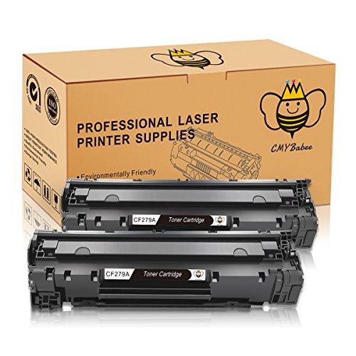 Cmybabee 2-pacco sostituzione per hp cf279a hp 79a ad alto rendimento cartuccia del toner (2 nero) compatibile per hp laserjet pro mfp m26nw m26a hp laserjet pro m12w m12a stampante