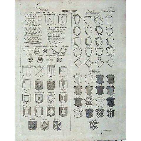 Il Cappotto 1801 dell'Araldica di Britannica dell'Enciclopedia Arma i Distintivi - Cappotto Britannico Di Armi