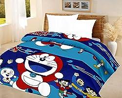 Lali prints kids quilt doraemon Blue A.C Blanket single bed size Dohar