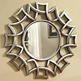 A.R Handicraft Decorative Mirror (Round Finish : Glossy) Color - Brown (Size - Width 21 Inch = Height 21 Inch = Depth 1 Inch .)