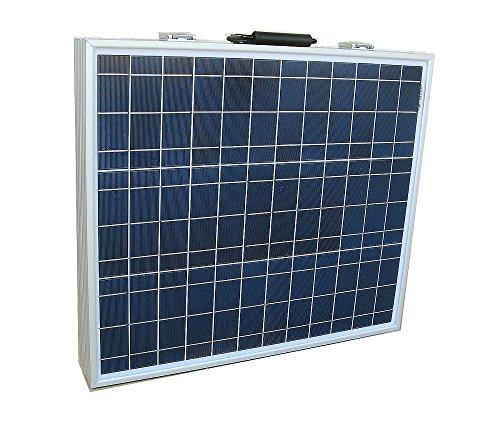 ECO-WORTHY 12V 80W Portable pannello solare Kit: - 80 Watt modulo solare policristallino - pieghevole (Batterie Carry Di Sistema)