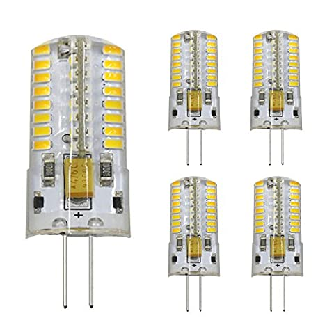 G4 LED Lampe, Dayker 5er Pack G4 LED Birnen, 4W, 64 X 3014 SMD LED, Ersetzt 35W Halogenlampen, Warmweiß,12V DC/AC, 360°Abstrahlwinkel LED Lampen Leuchtmittel