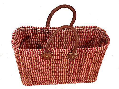 Korbtasche Einkaufskorb Strandkorb Ibiza Tasche Korb Afrika