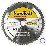 NOVOTOOLS - Lama per sega circolare in carburo di tungsteno, 160 mm x 20 mm x 60 denti, per tagliare facilmente tutti i tipi di legno, per Festool Bosch, Makita DeWalt