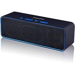 ZoeeTree S4-black Altavoz Bluetooth Portatiles Inalámbrico Portátil 4.2 Estéreo con 10W Driver Doble, Llamadas Manos Libres 3.5mm, AUX/Tarjetas y Ranura para Tarjetas TF, Negro