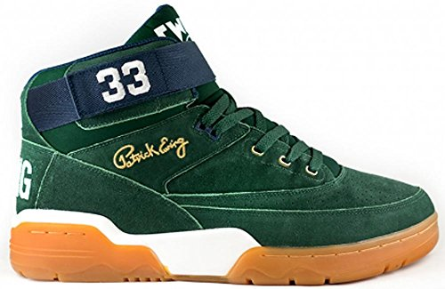 EWING Athletics 33 MID Green Navy Gum Basketball Shoes Limited Edition Men -