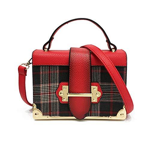 Art Und Weise PU-Material-Damen-Handtasche Einfach Und Bequem Verwendbarer Reise-Partei-Kurier Bag,Red-20 * 9 * 15cm