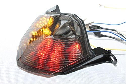 Htt Moto fumée LED Feu arrière lumière de frein avec Intégré les signaux indicateurs pour Kawasaki 07-12 Z750/07-08 Z1000/08-10 Zx-10r Zx1000/09-12 Zx-6r Zx600