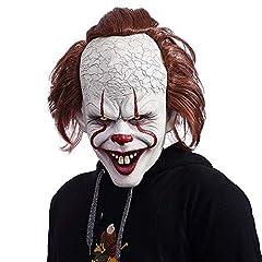 Idea Regalo - NUWIND Pennywise Maschera in Lattice Pagliaccio Costume Spaventoso per Cosplay, Travestimento, Halloween Accessori per Maschere Facciali per Adulti