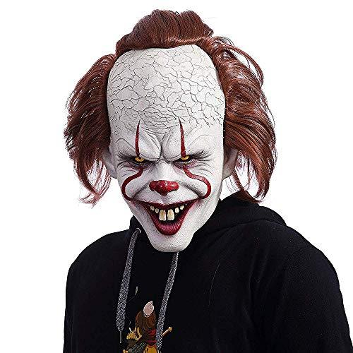 NUWIND Pennywise Maschera Lattice Pagliaccio Costume Spaventoso per Cosplay Travestimento Halloween Accessori per Maschere Facciali per Adulti