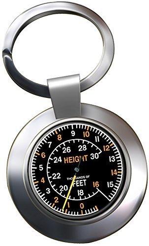 Spitfire Höhenmesser chrom Schlüsselring