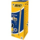 BIC Kugelschreiber Cristal Shine in Gold – Edler Kugelschreiber mit blauer dokumentenechter Tinte – Kuli Pack à 20 Stück