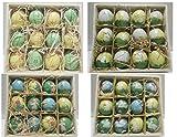 Geschenkidee Deko Ostern - 24 Ostereier handbemalt, in Holzbox, Deko für Ostern, 6cm, bunte Eier
