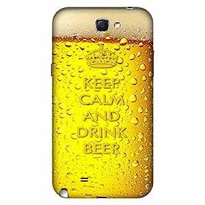 Mobo Monkey Designer Printed Back Case Cover for Samsung Galaxy Note 2 :: Samsung Galaxy Note Ii N7100 (Beer Mug :: 3D :: Retro :: Keep Calm And Drink :: Humor)