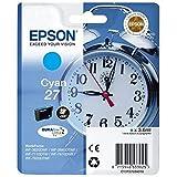 Epson Original T2702 Tintenpatrone Wecker, wisch- und wasserfeste Tinte (Singlepack) cyan