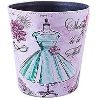 LVPY Papelera - Cubo de Basura con 10 l de Cuero para el baño, la Oficina o la Cocina(Falda)