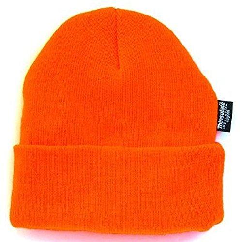 Wasserabweisende Wintermütze bis -30°C Kälte getestet wählbar One Size (Neonorange, Einheitsgröße) (Damen Jagd Kostüm)