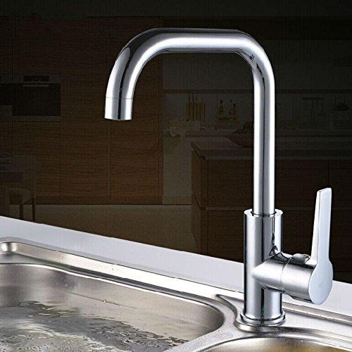 Küche Wasserhahn Einlochmontage Spülbecken Waschbecken Rotierenden Waschbecken Wasserhahn Einzigen Küche Sieben-Wort-Wasserhahn Wasserhahn80Cm Heißen Kalten Schlauch 1 Kalt 1 Heißes Eckventil