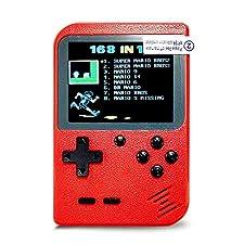 InsideOut Mini Game Boy 8 bit Classic Ecran Couleur | 168 Jeux emblématiques Retro Vintage Nostalgie 90 | Prête à l'emploi | Tendance 2018